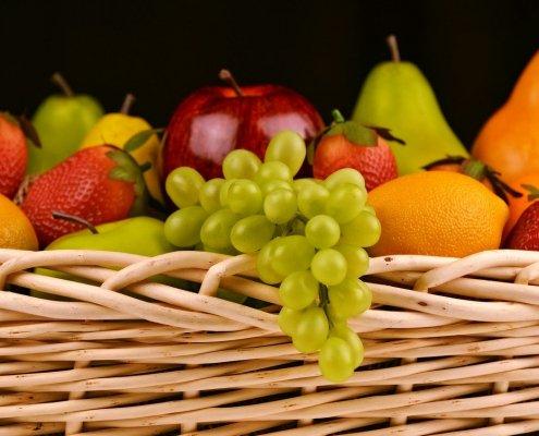 fruits, fresh, basket